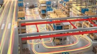 Flujo de material en un almacén con equipamiento de Linde Material Handling