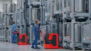 Los apiladores de Linde Material Handling miden el peso de la carga